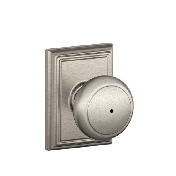 Andover Knob with Addison Trim Bed and Bath Lock b