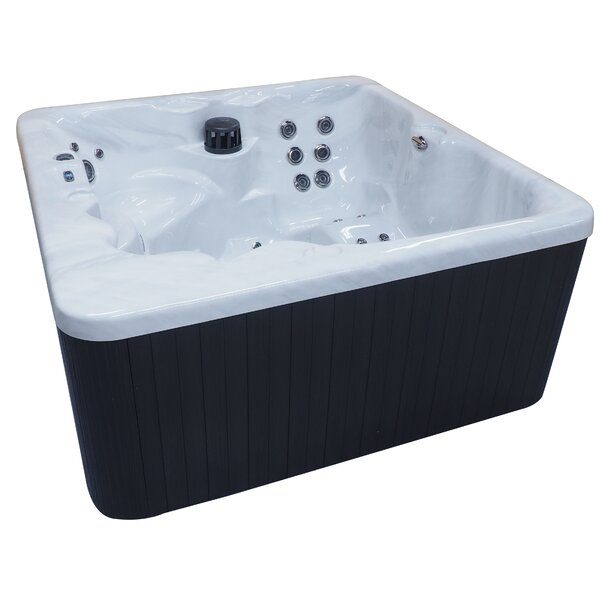 Malibu Lounger 5-Person Spa 62-Jet Spa with Waterfall and LED Light by QCA Spas