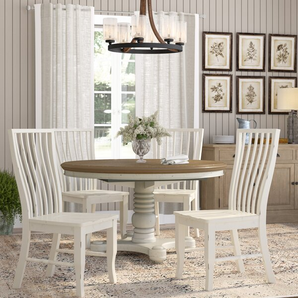 Fleeton 5 Piece Extendable Solid Wood Dining Set by August Grove