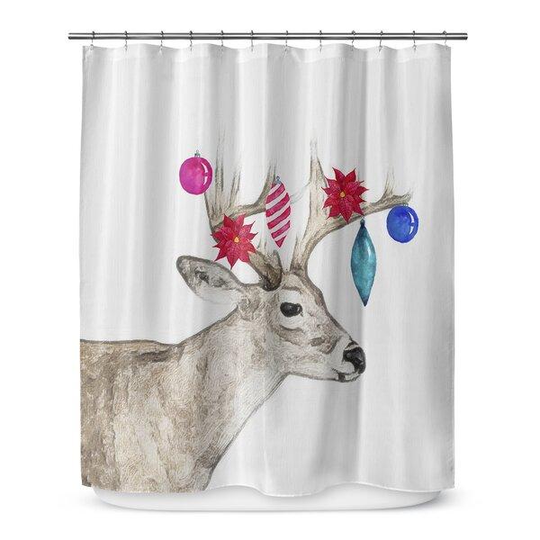 Jingle Deer 72 Shower Curtain by KAVKA DESIGNS