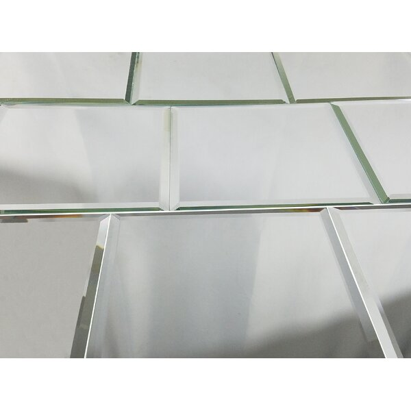 Echo 8 x 8 Glass Tile in High Gloss Silver by Abol