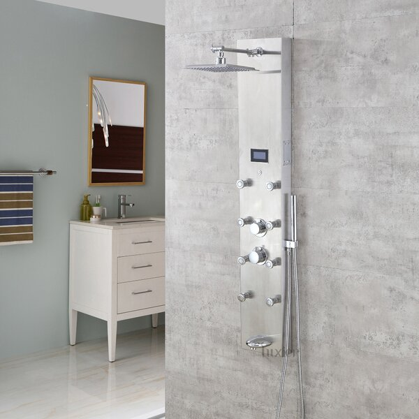 Massage Tower Thermostatic Rain Shower Panel by Luxier