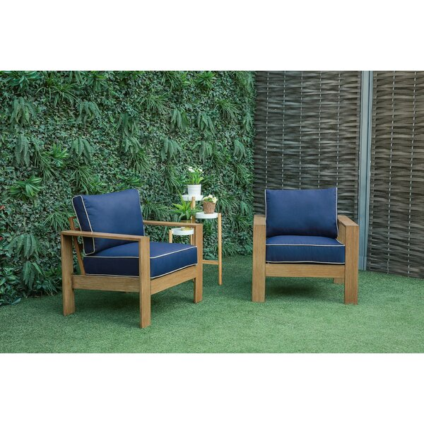Brenner Patio Chair with Cushions (Set of 2) by Longshore Tides Longshore Tides