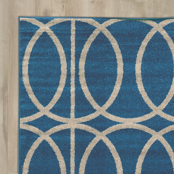 Mancini Blue Area Rug by Wrought Studio