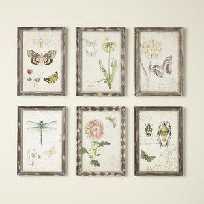 Charming Superbe Gardener Wall Art (Set Of 6)