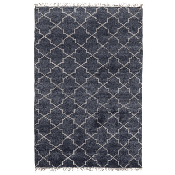 Lakeview Hand-Knotted Navy Area Rug by Ophelia & Co.