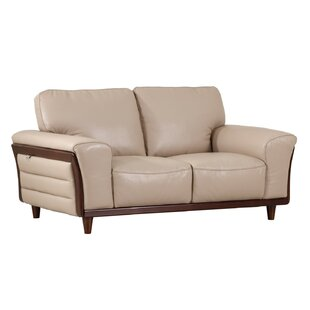 Towle Leather Loveseat