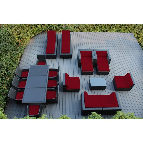 Bartol 20 Piece Rattan Complete Patio Set with Cushions by Orren Ellis
