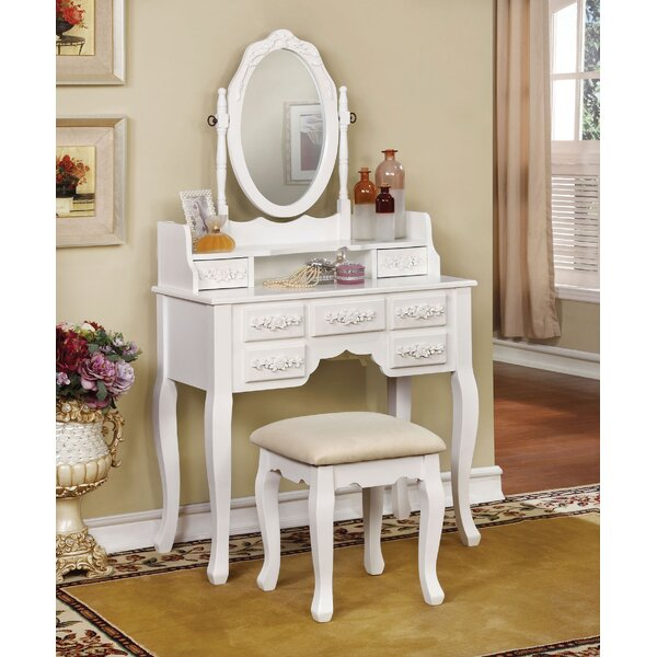 Ailbe Vanity Set with Mirror by House of Hampton House of Hampton