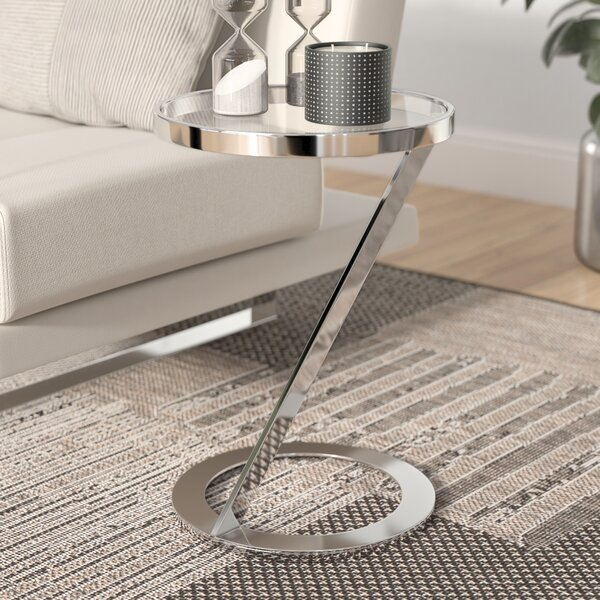 Review Turner Glass Top C End Table