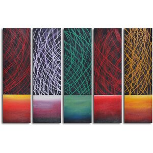 Galactical Day Breaks' 5 Piece Painting on Wrapped Canvas Set by My Art Outlet