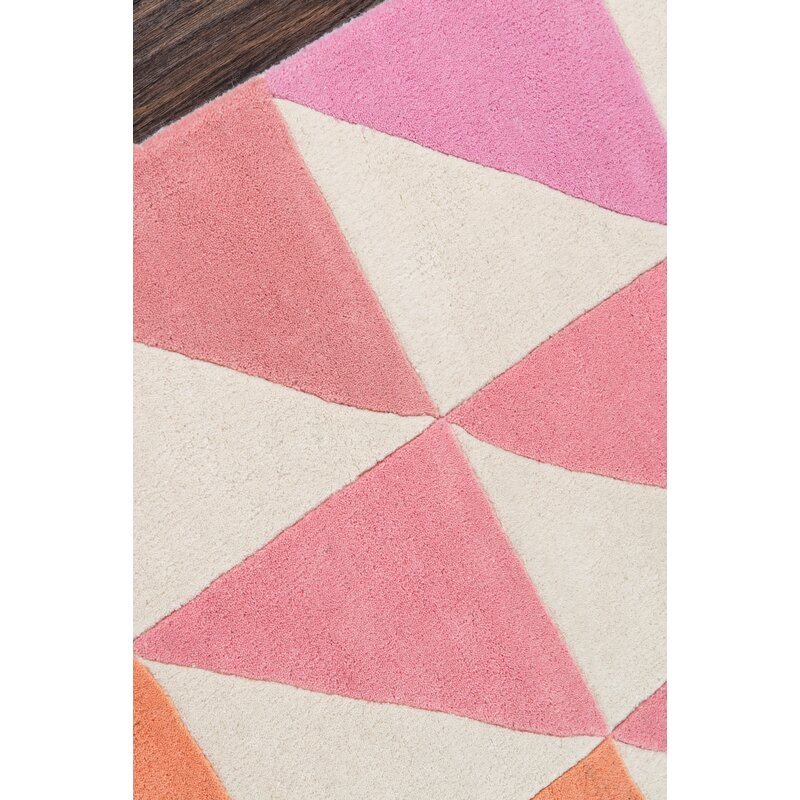 agatha side hand tufted pink brown area rug allmodern