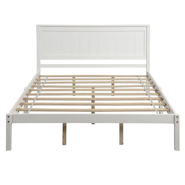 Christian Wood Queen Platform Bed by Red Barrel Studio