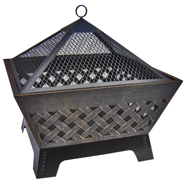 Barrone Steel Wood Burning Fire Pit by Landmann