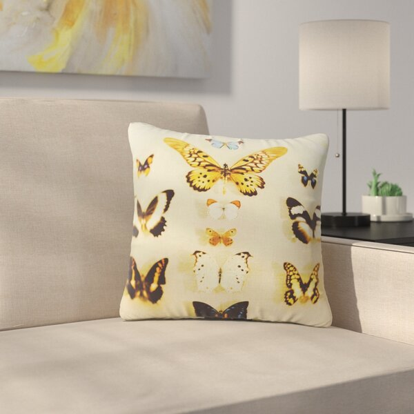 The Butterfly Collection Photography Outdoor Throw Pillow by East Urban Home