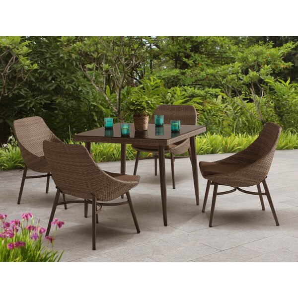 Century 5 Piece Dining Set with Cushions by Sunjoy