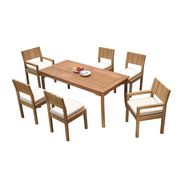 Gibb 7 Piece Teak Dining Set by Rosecliff Heights