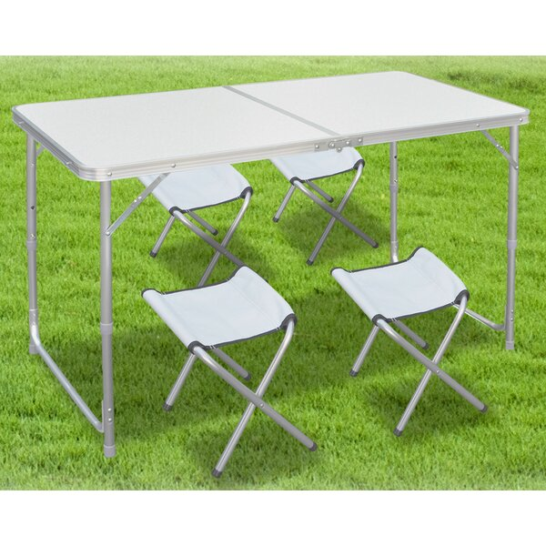 Alemany Folding Camping 5 Piece Dining Set by Symple Stuff