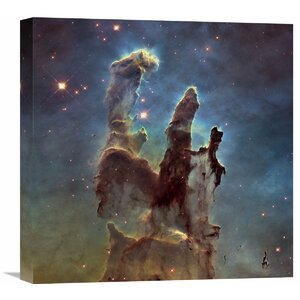 2014 Hubble WFC3 / UVIS High Definition Image of M16 - Pillars of Creation Photographic Print on Wrapped Canvas by Global Gallery