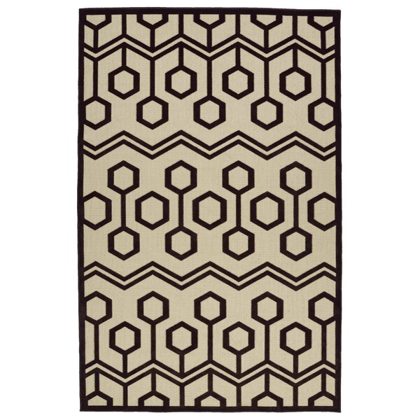 Shirehampton Brown/Cream Indoor/Outdoor Area Rug by Wrought Studio