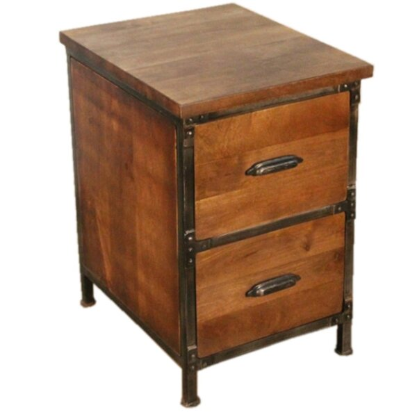 Yerby 2 Drawer Filing Cabinet by Millwood Pines