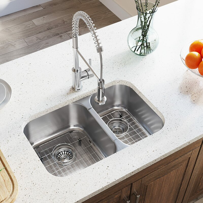 Double Basin Undermount Kitchen Sink