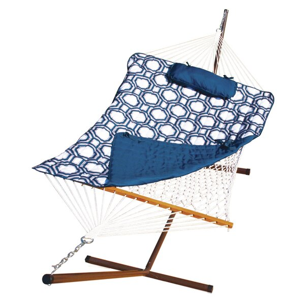 Stinson Cotton Chair Hammock with Stand by Breakwater Bay