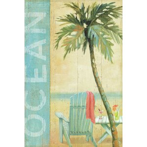 Ocean Beach II Graphic Art on Wrapped Canvas by East Urban Home