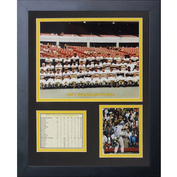 1971 Pittsburgh Pirates Framed Memorabilia by Legends Never Die