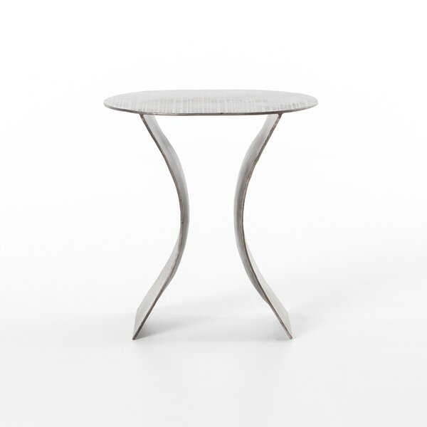 Safiya Iron Etch End Table By Bloomsbury Market