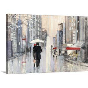 'Spring Rain New York' by Julia Purinton Painting Print on Wrapped Canvas by Great Big Canvas