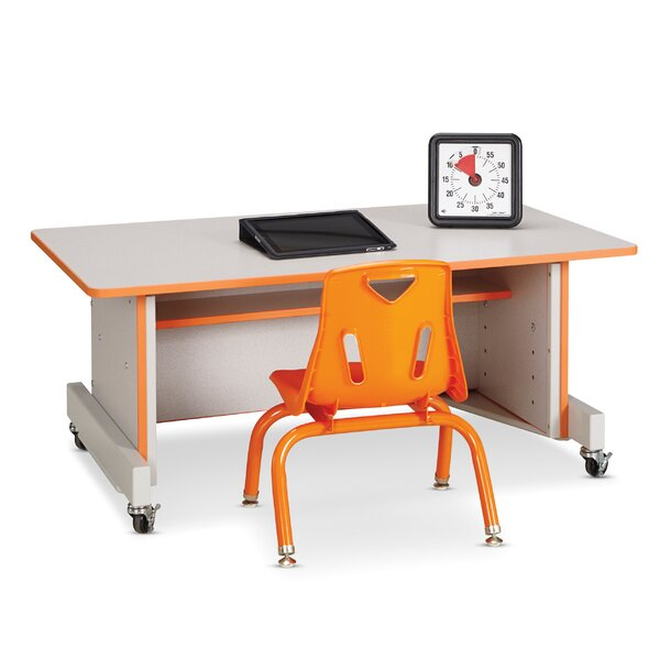Apollo Wood Adjustable Height Student Computer Desk by Jonti-Craft