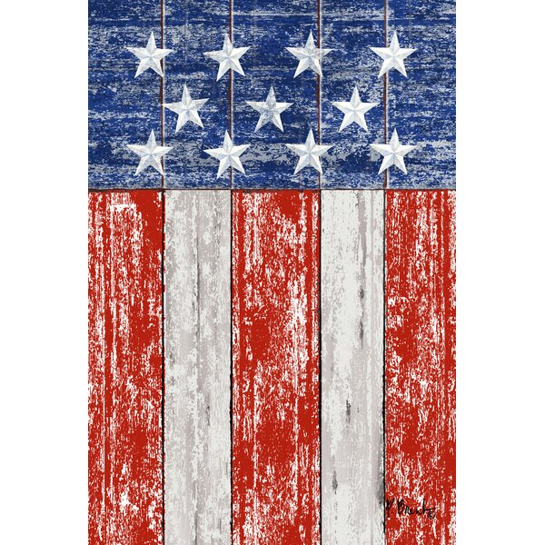 Rustic Patriotic 2-Sided Garden flag by Toland Home Garden