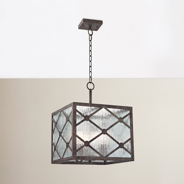 Dailey 3-Light Shaded Square / Rectangle Chandelier By Brayden Studio