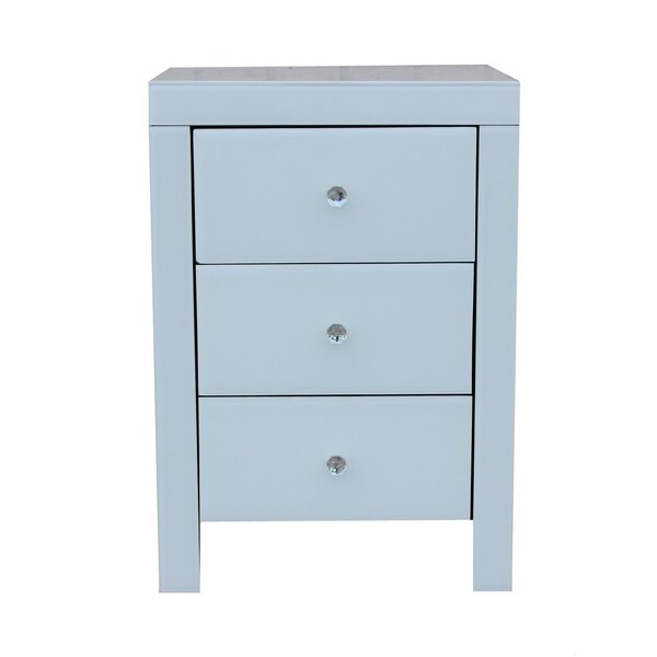 Paola 3 Drawer Nightstand by Rosecliff Heights