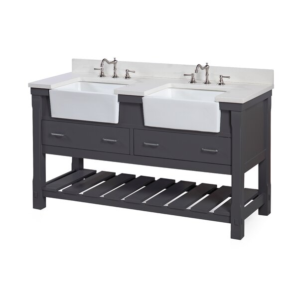 Charlotte 60 Double Bathroom Vanity Set by Kitchen Bath Collection