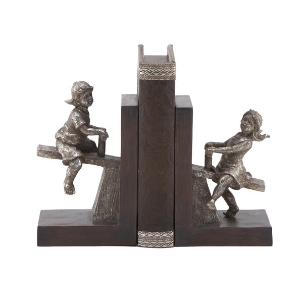Polystone Boy and Girl Book Ends (Set of 2) by Cole & Grey