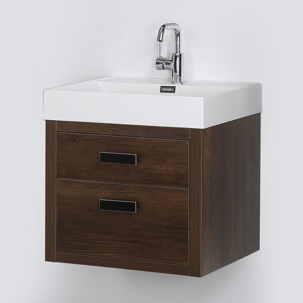 24 Wall Mounted Single Bathroom Vanity Set by Streamline Bath