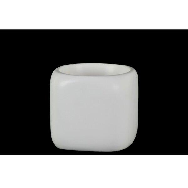Deonte Round Shaped Ceramic Pot Planter by Orren Ellis