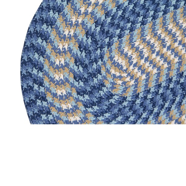Ressie Hand Braided Blue Rug