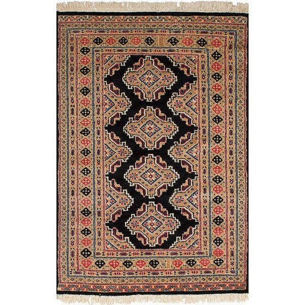 One-of-a-Kind Do Hand-Knotted Wool Beige/Black Area Rug by Isabelline