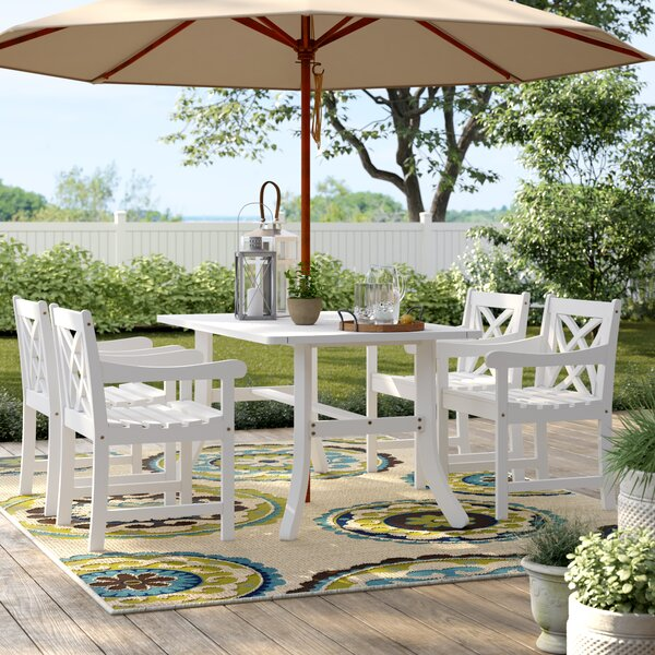 Andromeda 5 Piece Dining Set by Beachcrest Home Beachcrest Home