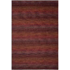 Sherri Red Stripe Area Rug
