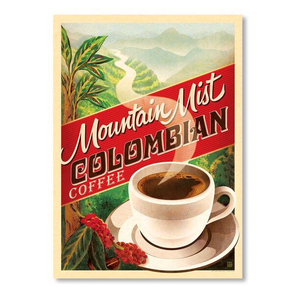 Colombian Coffee Vintage Advertisement by East Urban Home