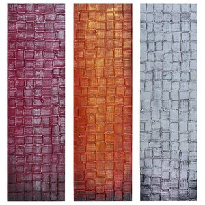 Trio of Textured Panels 3 Piece Painting on Wrapped Canvas Set by My Art Outlet