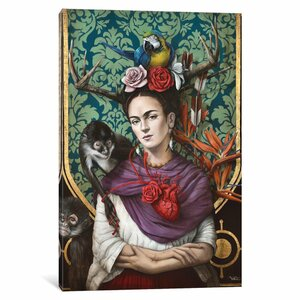 Hommage a Frida (a Tribute to Frida) Graphic Art on Wrapped Canvas by East Urban Home