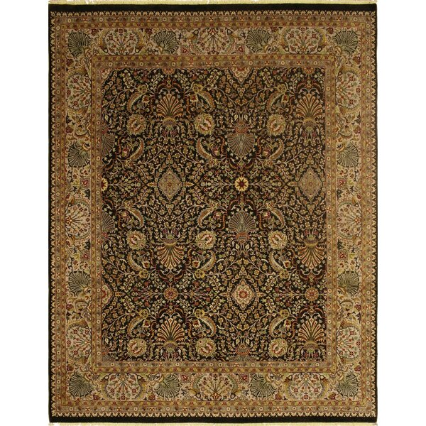 Clerkin Hand Knotted Wool Chocolate Area Rug by Astoria Grand