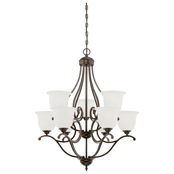 Ranlo 9-Light Shaded Tiered Chandelier by Fleur De Lis Living Fleur De Lis Living