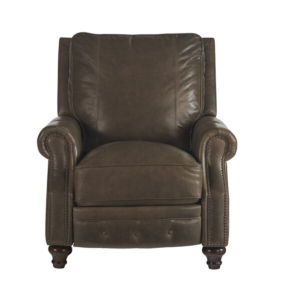 Lorna Leather Recliner by Canora Grey