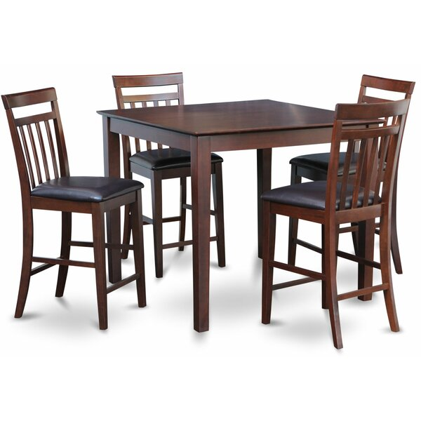 5 Piece Counter Height Pub Table Set By East West Furniture Find